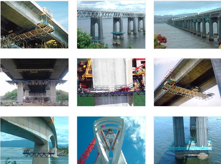 Bridge Cleaning Suspended Access Platform Customized Steel Safety